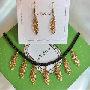 Stella & Dot Secret Garden Necklace + Earrings Set